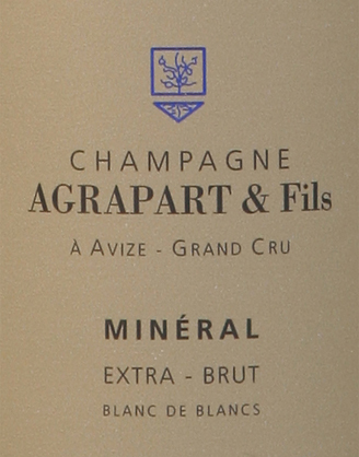 Champagne AGRAPART & FILS: Cuvée MINERAL Blanc de Blancs Grand Cru Extra Brut MAGNUM
