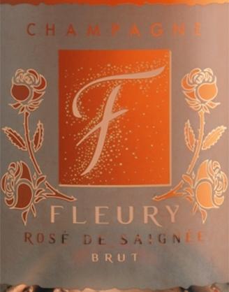 Champagne FLEURY: Cuvée ROSE DE SAIGNÉE Brut