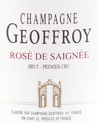 Champagne GEOFFROY: Cuvée ROSÉ DE SAIGNÉE Brut Premier Cru